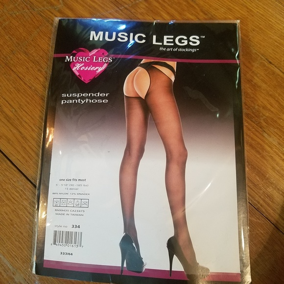 8e3164ec0 Music Legs Suspender Pantyhose Crotchless Stocking